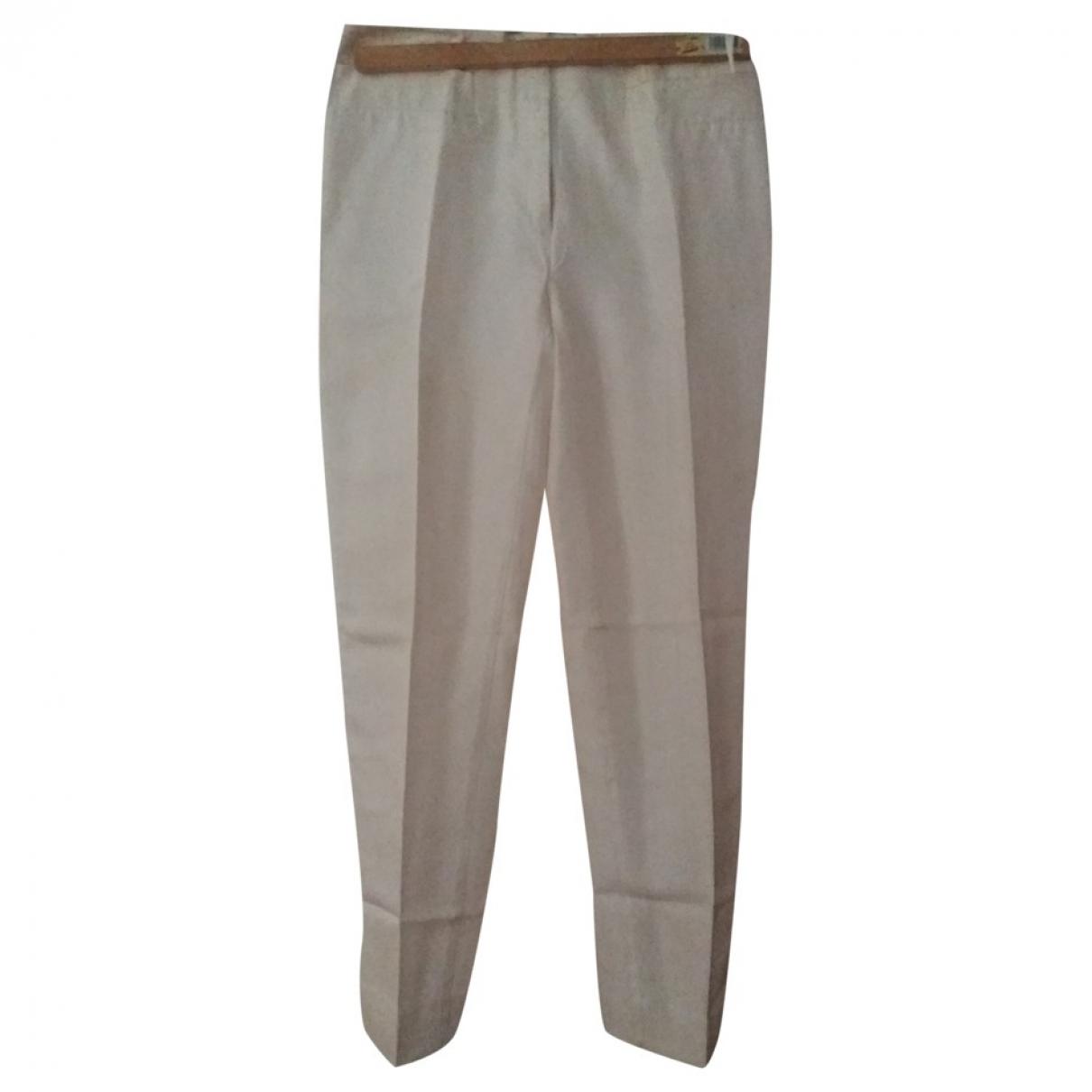 Pantalon recto de Seda Prada