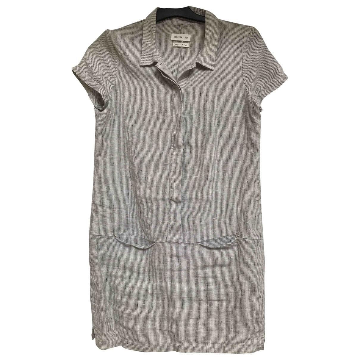 Harry Wilson \N Kleid in  Grau Leinen
