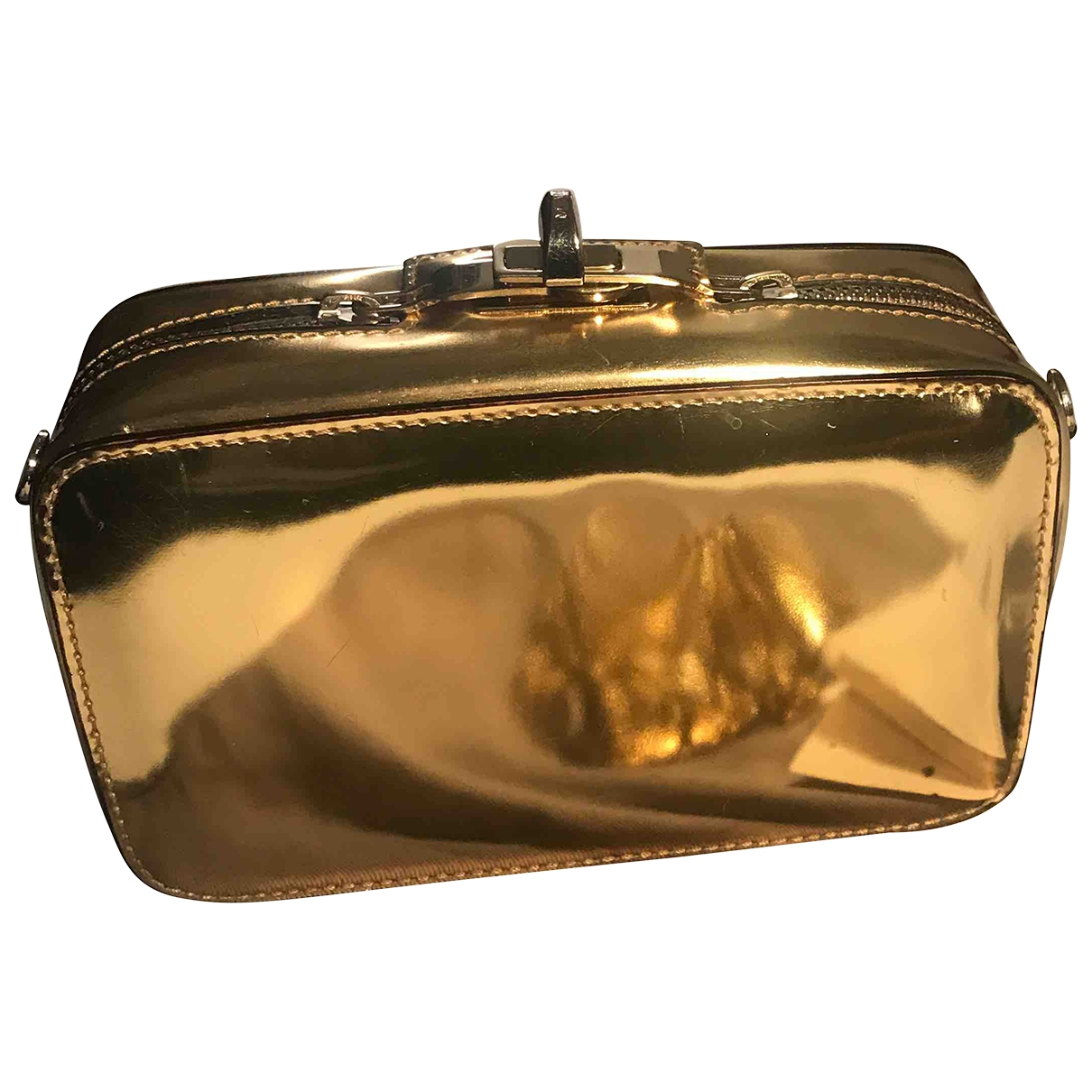 Max Mara \N Clutch in  Gold Leder