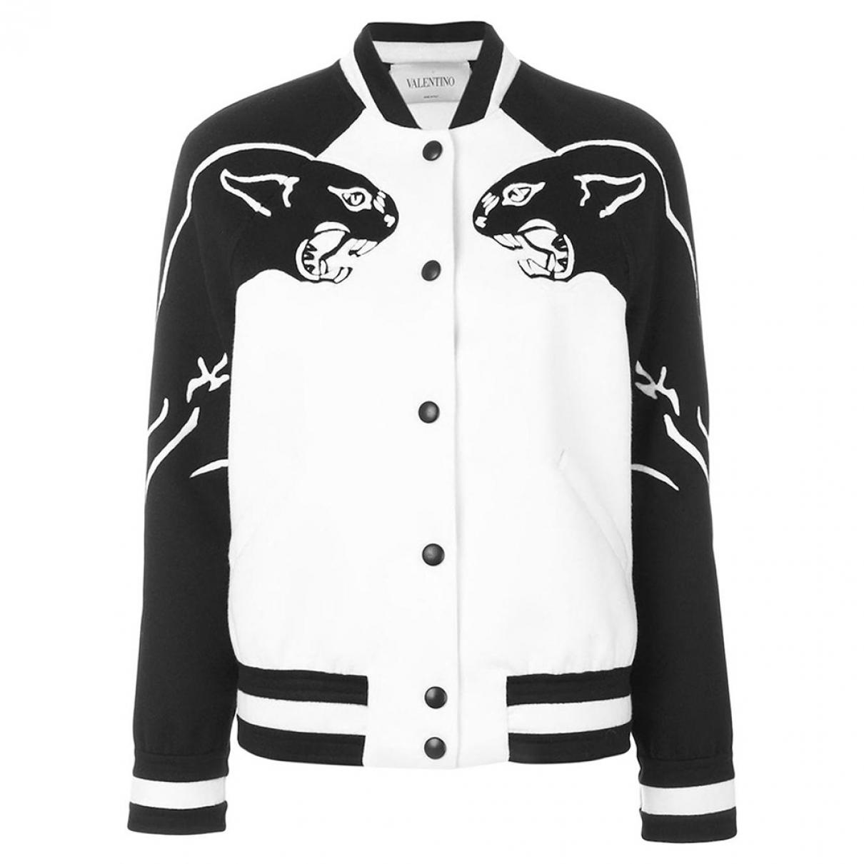 Valentino Garavani - Veste   pour femme en laine - blanc