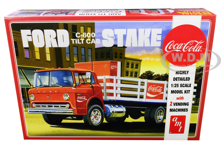Skill 3 Model Kit Ford C600 Stake Bed Truck with Two