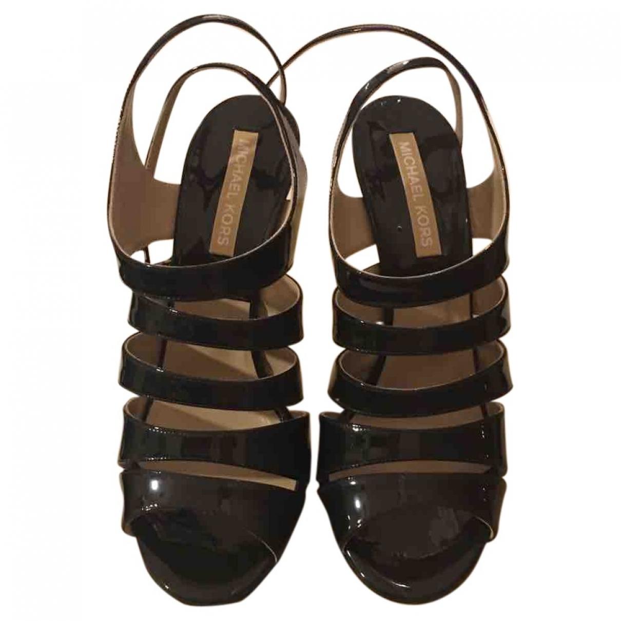 Michael Kors \N Black Patent leather Heels for Women 37 EU