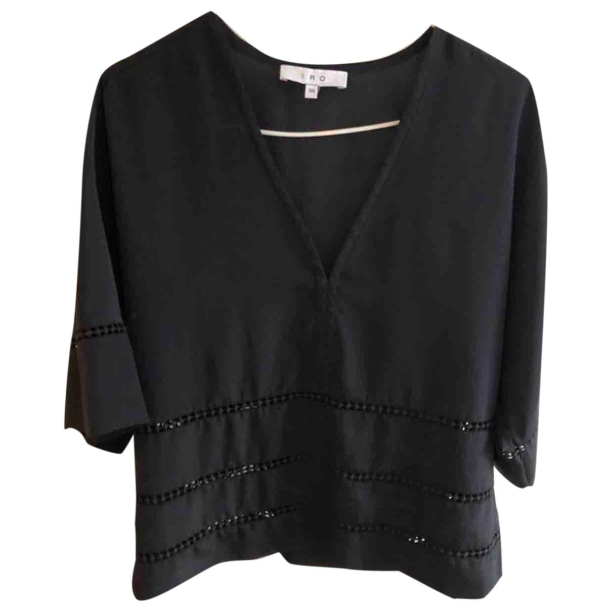 Iro \N Black Silk  top for Women 38 FR
