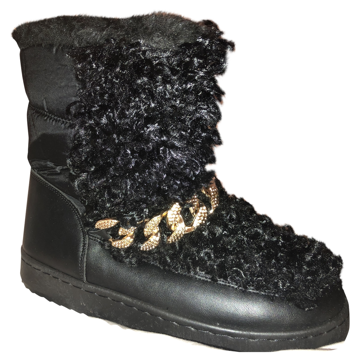 Non Signe / Unsigned \N Stiefel in  Schwarz Synthetikpelz