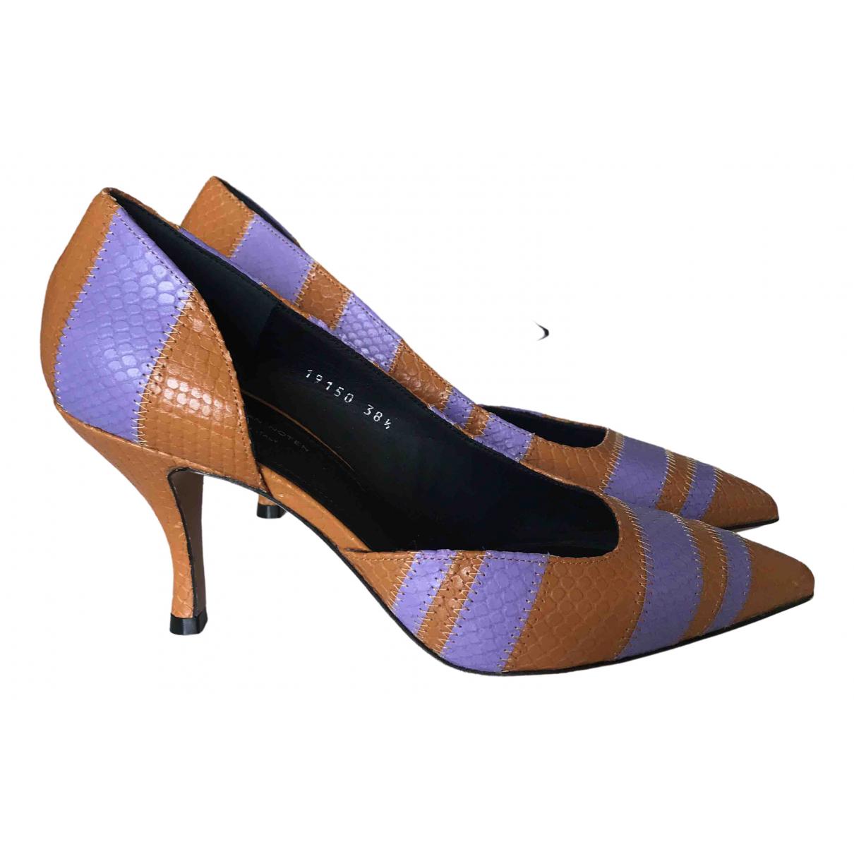 Dries Van Noten \N Camel Leather Heels for Women 38.5 EU