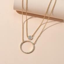 2 piezas collar con diamante de imitacion