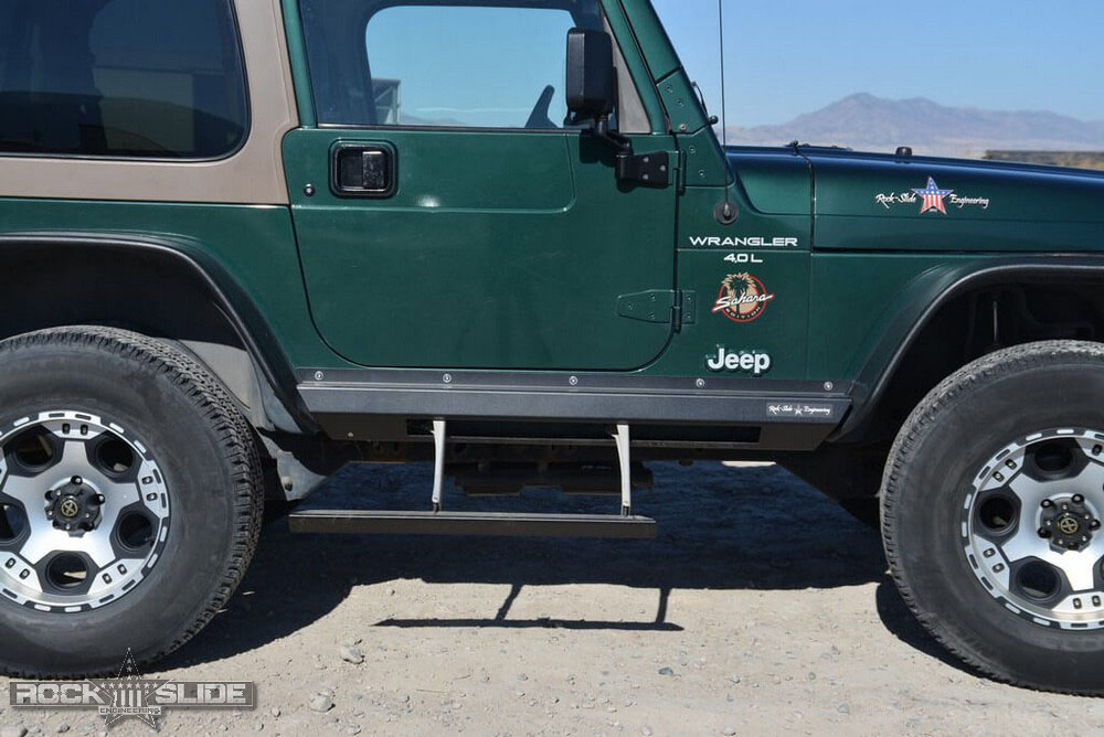 Rock Slide Engineering BD-SS-100-TJ Step Slider Kit Jeep Wrangler TJ 1997-2006