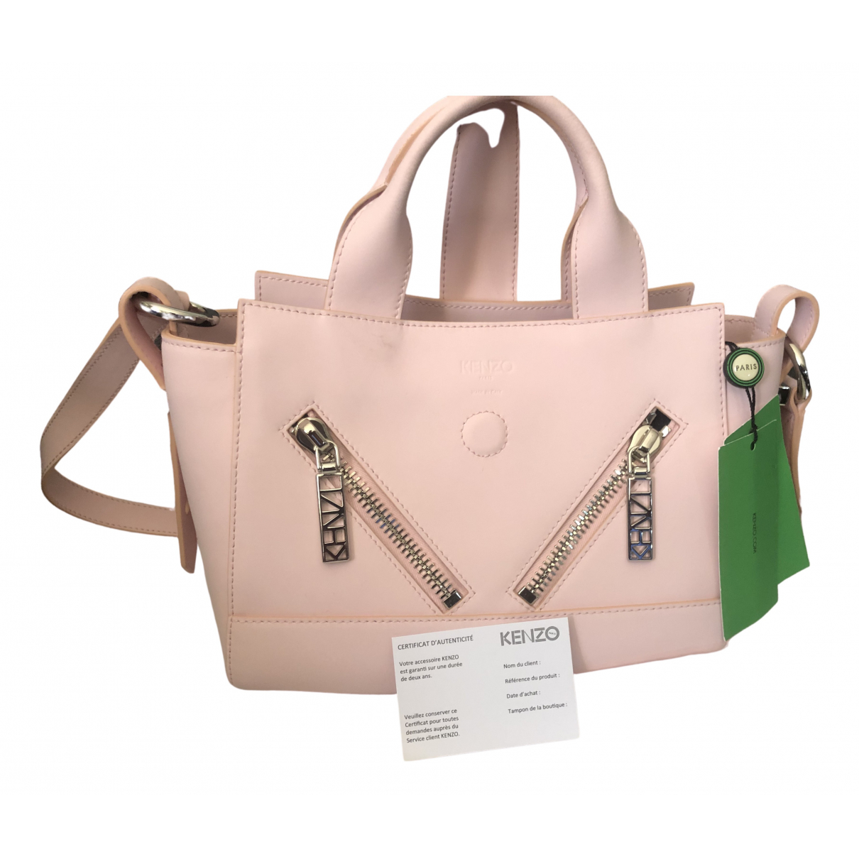Kenzo Kalifornia Pink Leather handbag for Women \N