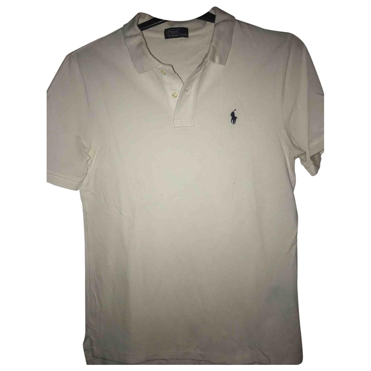 Polo Ralph Lauren - Polos Polo ajuste manches courtes pour homme en coton - blanc