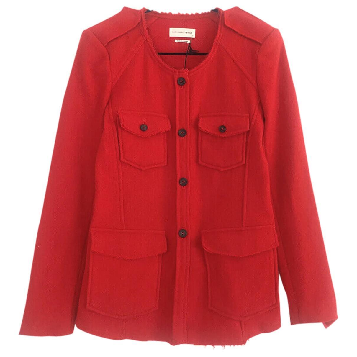 Isabel Marant Etoile - Veste   pour femme en laine - rouge