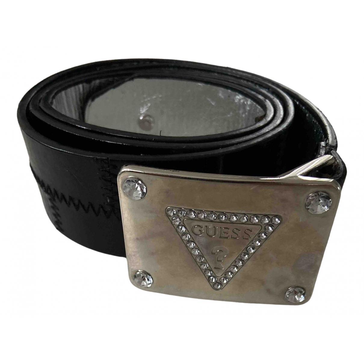 Guess N Black Leather belt for Women M International