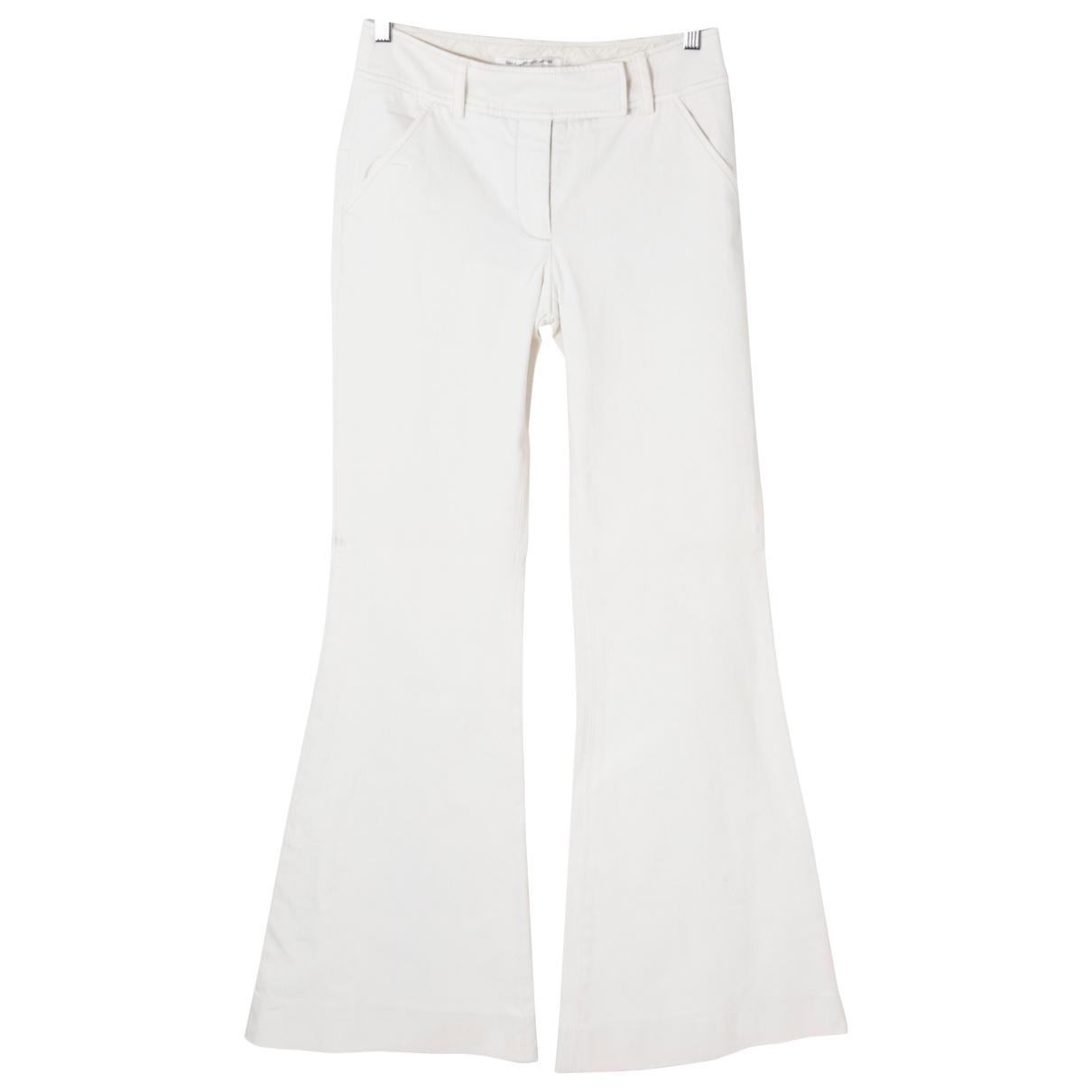 Pantalon en Algodon Crudo Diane Von Furstenberg
