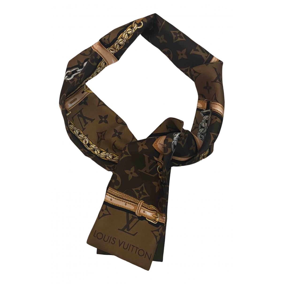 Louis Vuitton N Brown Silk scarf for Women N