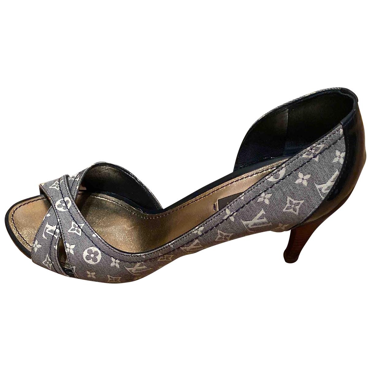 Louis Vuitton \N Blue Cloth Heels for Women 38.5 EU