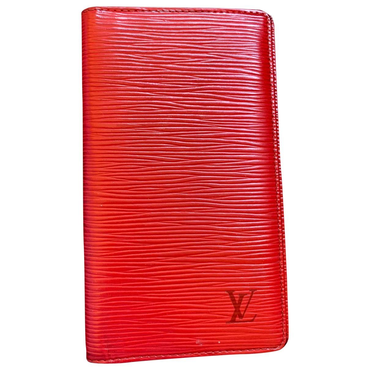 Louis Vuitton - Petite maroquinerie Couverture Passeport pour femme en cuir - rouge