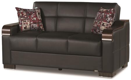 Uptown Collection UPTOWN LOVE SEAT BLACK PU 11-448 62