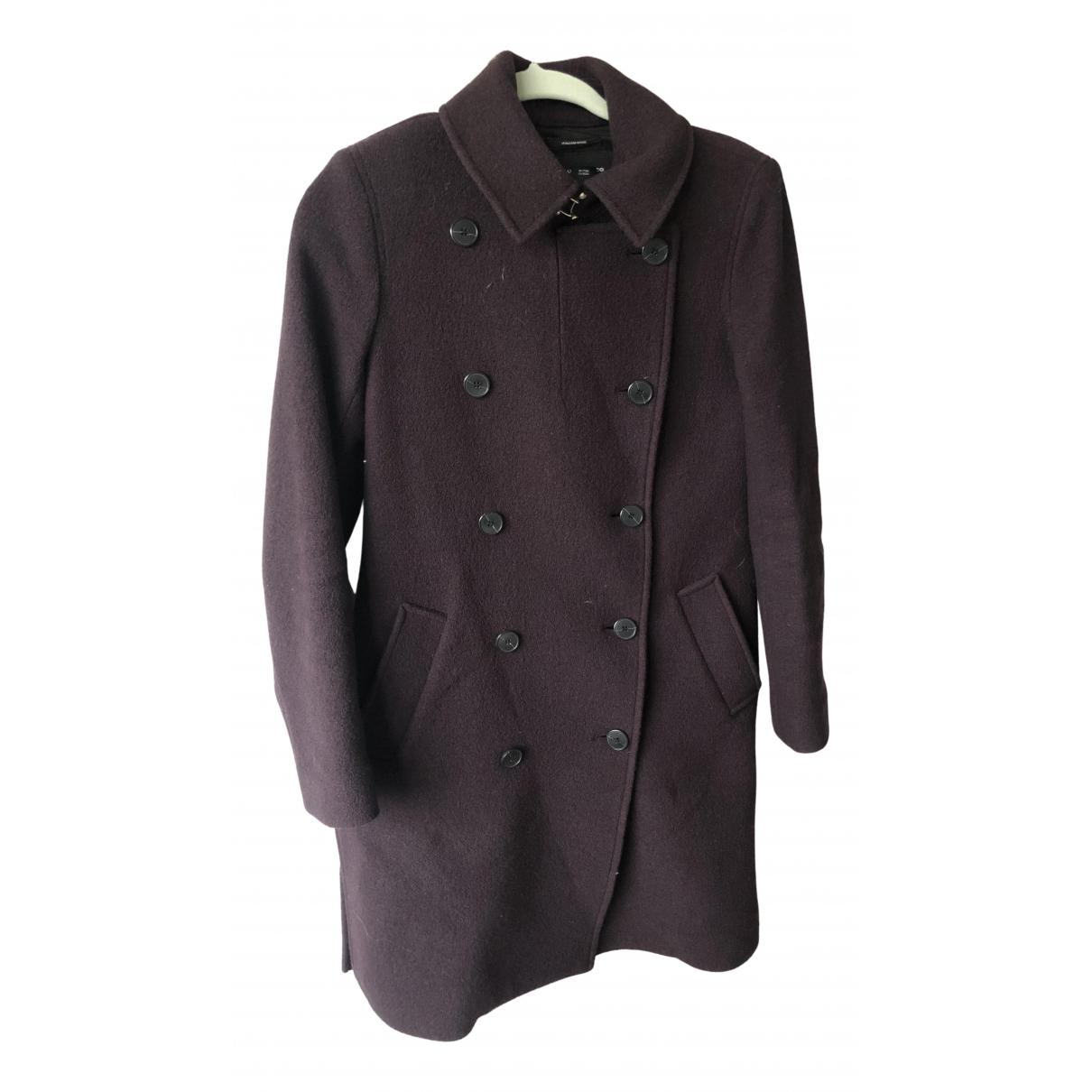 Club Monaco - Manteau   pour femme en laine - bordeaux