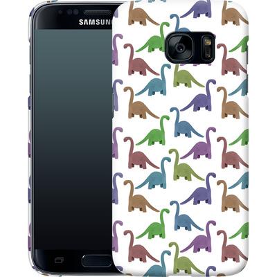 Samsung Galaxy S7 Smartphone Huelle - Cute Dinosaurs von Becky Starsmore