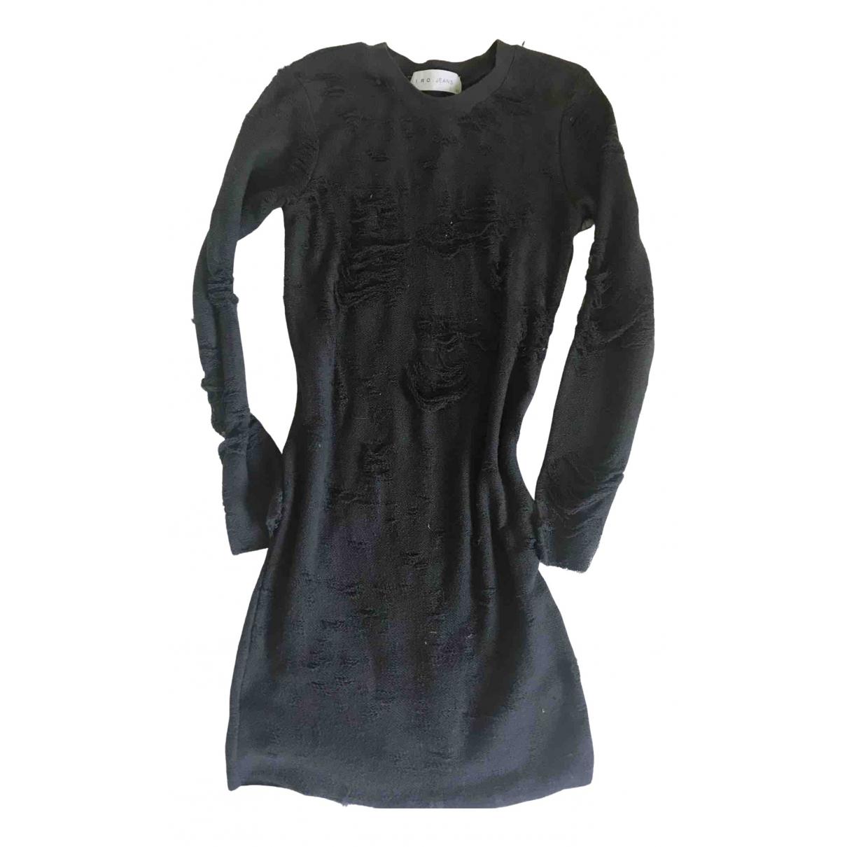 Iro \N Kleid in  Anthrazit Baumwolle