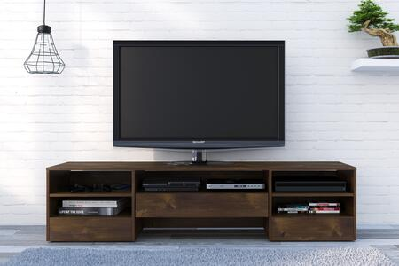 Nexera 109012 Rustik Collection  TV Stand 72-inch  with 1 Wide Storage Drawer and 2 Shelves  Scratch  Stain and Water-Resistant Top Quality Melamine