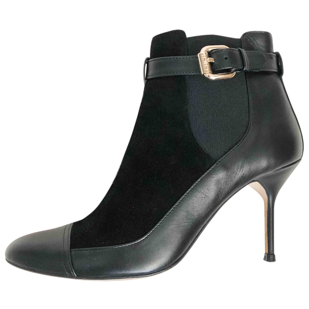 Carolina Herrera - Bottes   pour femme en cuir - noir