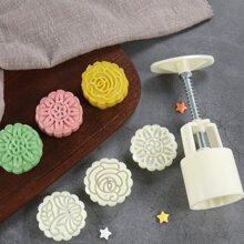4 Stuecke chinesische Mondkuchen Form