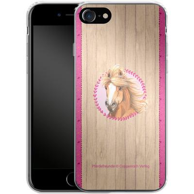 Apple iPhone 8 Silikon Handyhuelle - Pferdefreunde Herzen von Pferdefreunde