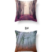 1 Stueck Kissenbezug mit Wald Muster ohne Fuellstoff