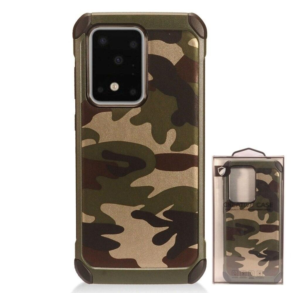 Insten Camouflage Hard Hybrid Plastic TPU Case For Samsung Galaxy S20 Ultra - Green/Black (Green)