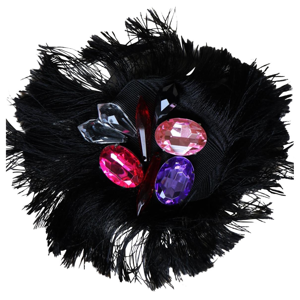 Dolce & Gabbana - Broche   pour femme en metal - noir