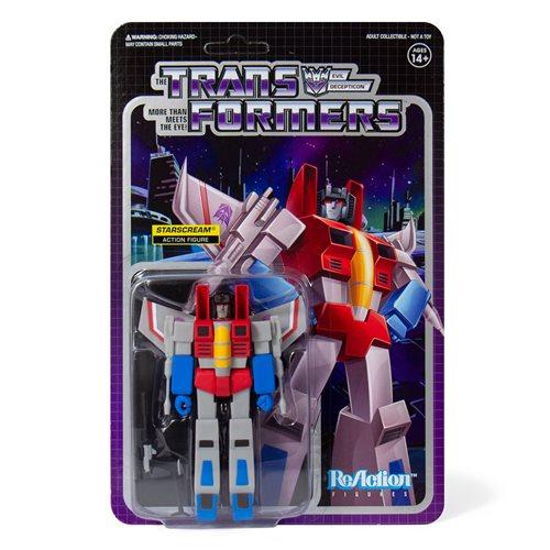 Transformers Starscream 3 3/4-Inch ReAction Figure