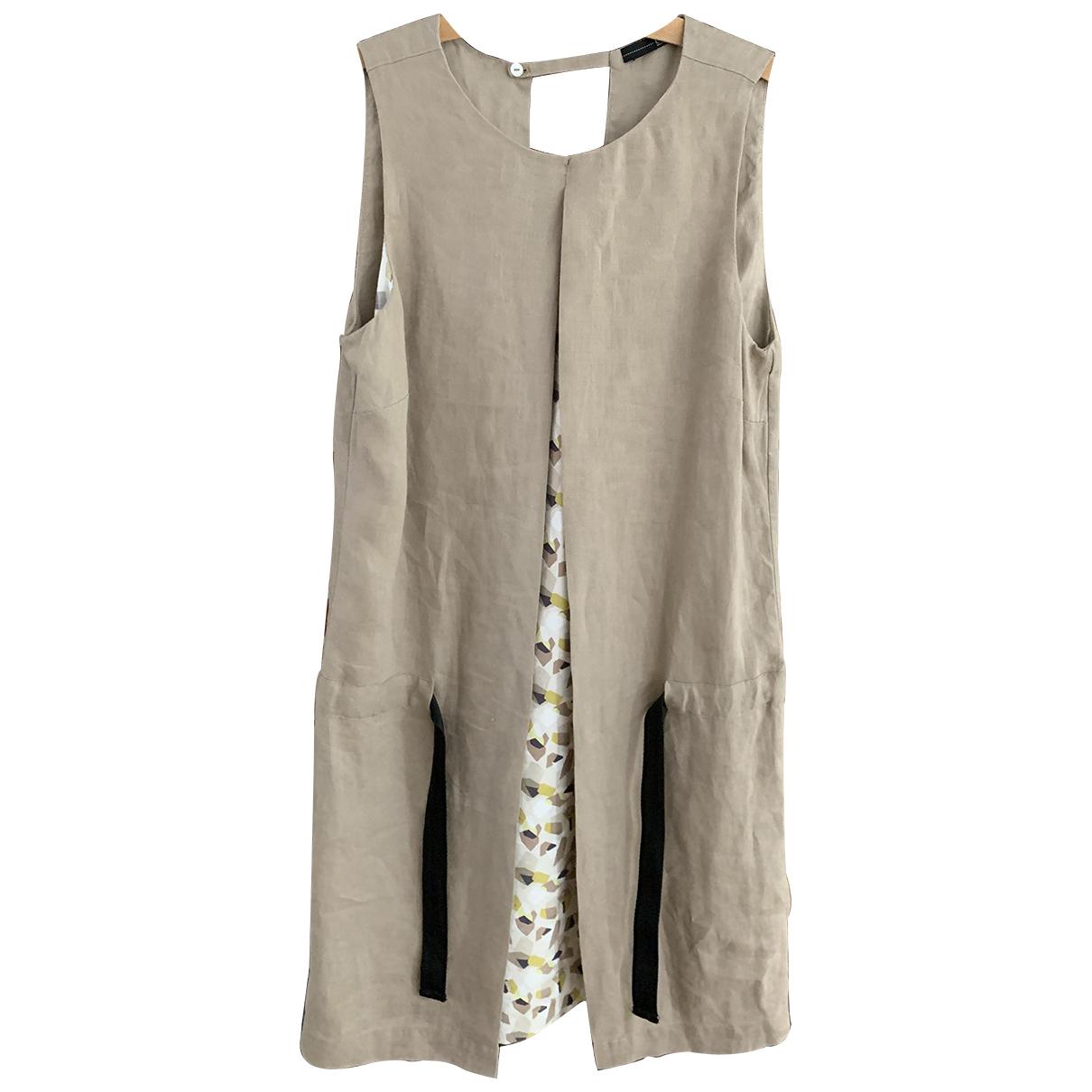 - Robe   pour femme en lin - gris