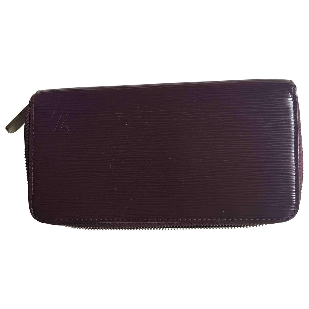 Louis Vuitton Zippy Purple Leather wallet for Women \N