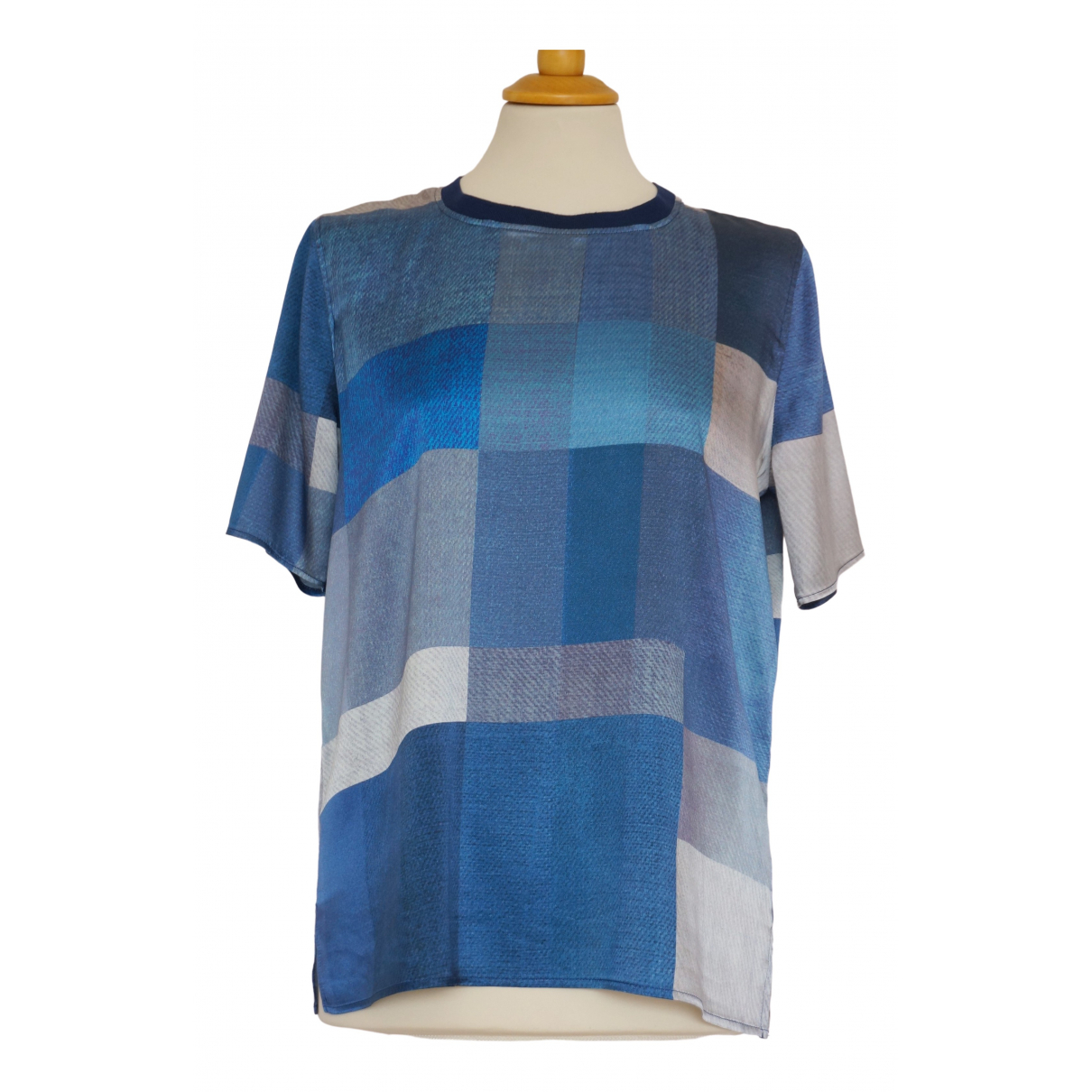 Holzweiler - Top   pour femme en soie - bleu