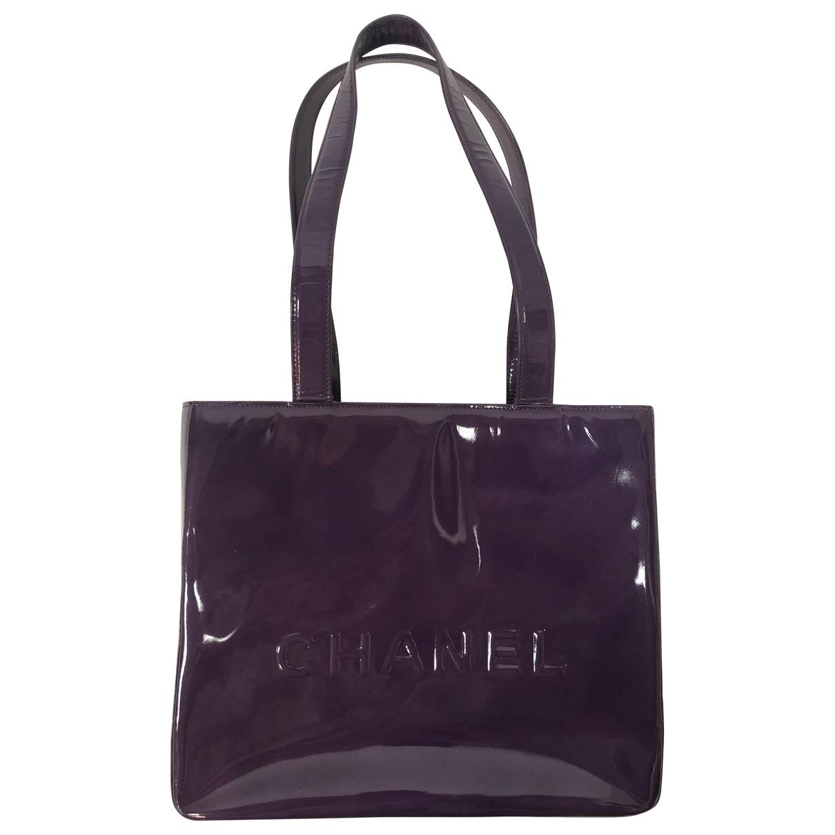 Chanel \N Handtasche in  Lila Lackleder