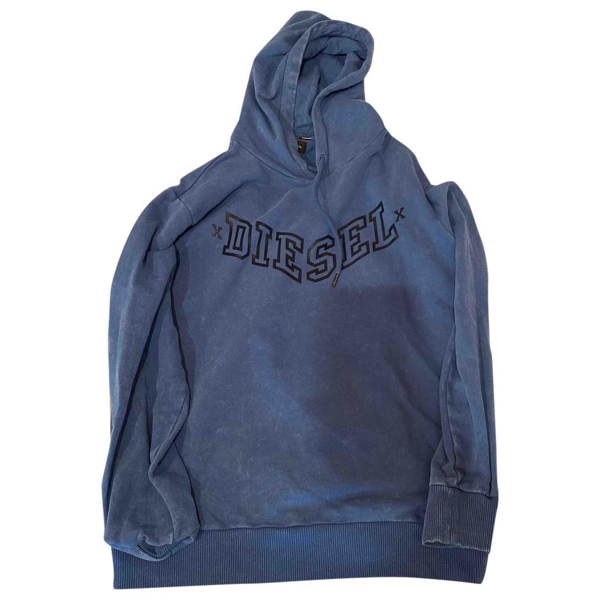 Diesel \N Blue Cotton Knitwear & Sweatshirts for Men M International