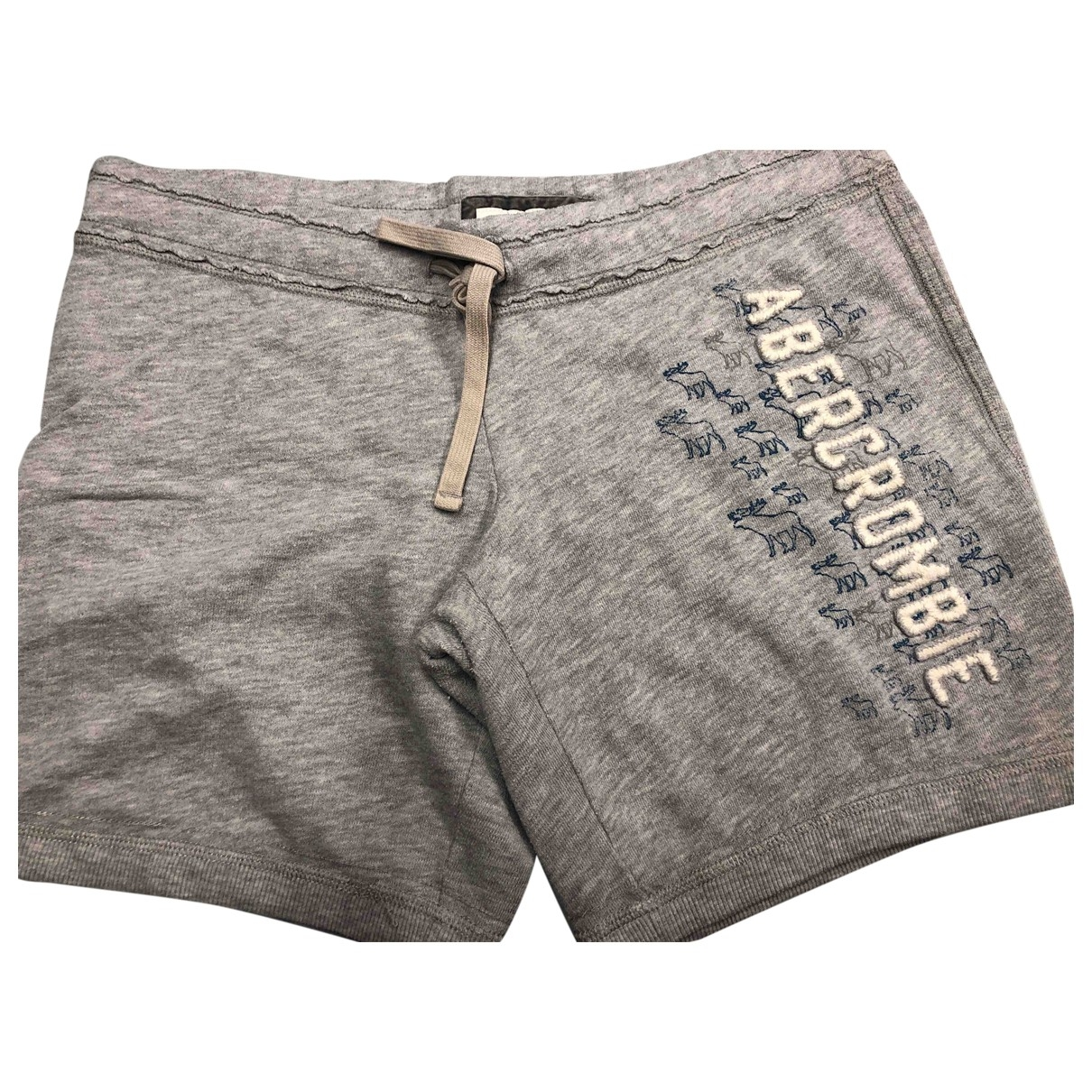 Abercrombie & Fitch - Short   pour femme en coton - gris