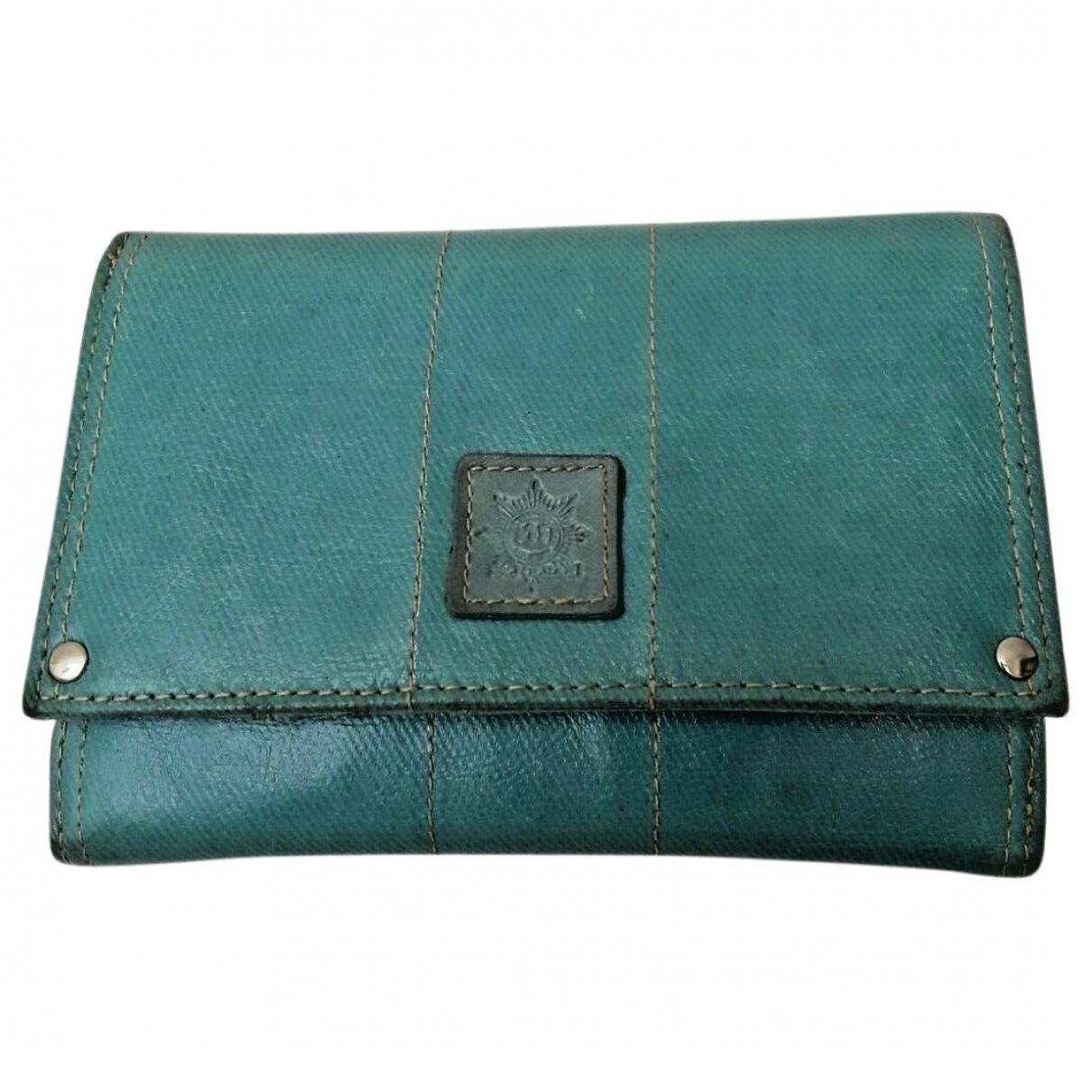 - Portefeuille   pour femme en cuir - vert