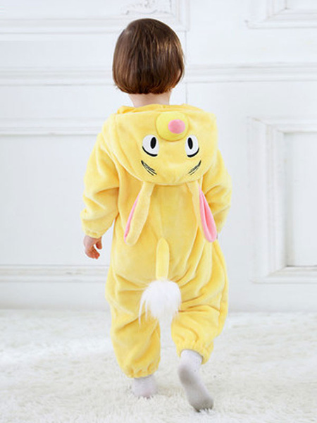 Milanoo Kigurumi Pajamas Onesie Bunny Yellow Toddler Cartoon Jumpsuit