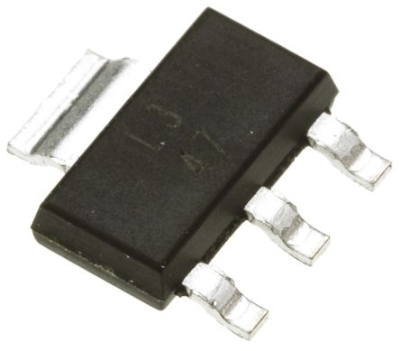 Texas Instruments , 1.25 → 37 V Linear Voltage Regulator, 1.5A, 1-Channel, Adjustable 3+Tab-Pin, SOT-223 LM317DCYR (5)