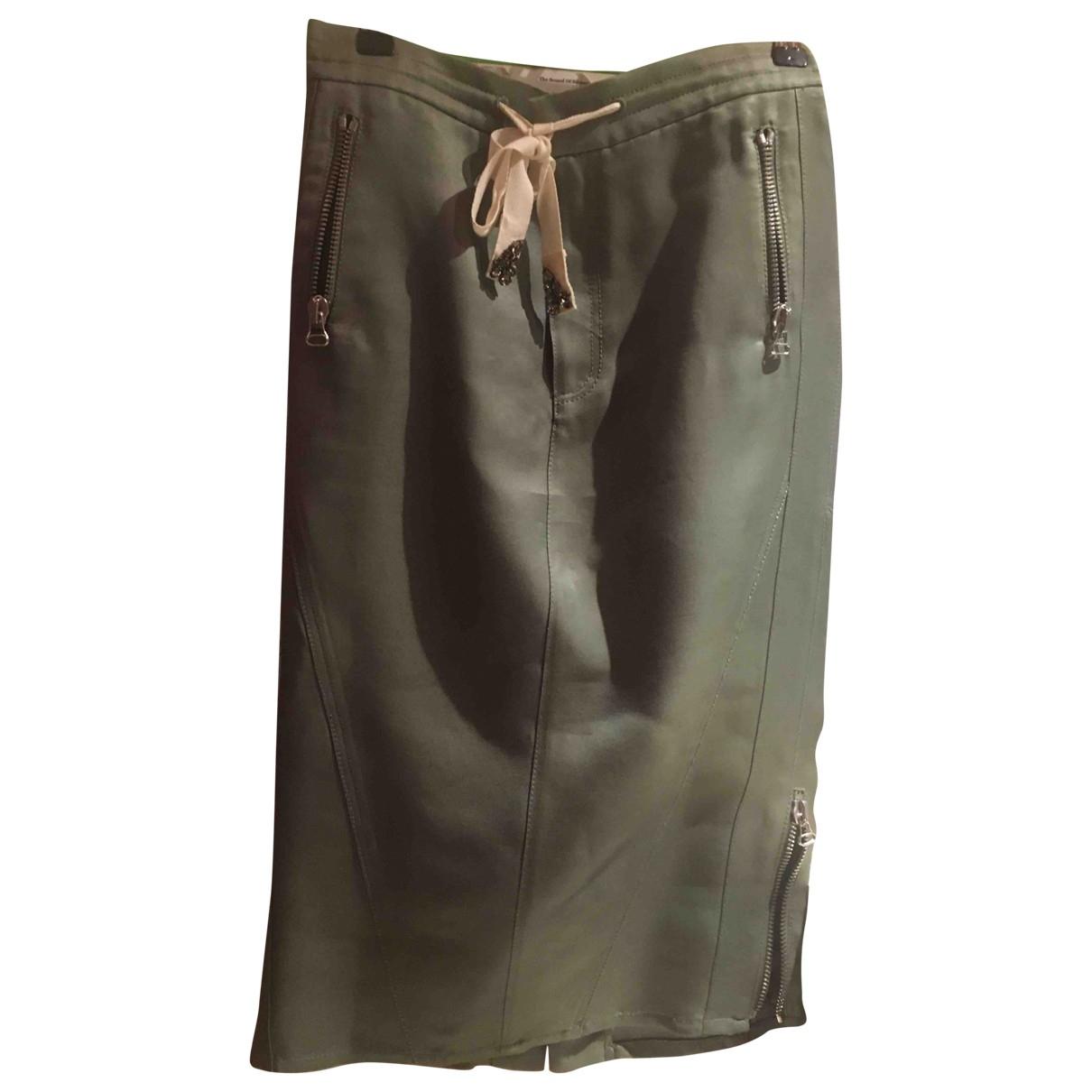 Ermanno Scervino \N Metallic Linen skirt for Women 40 IT