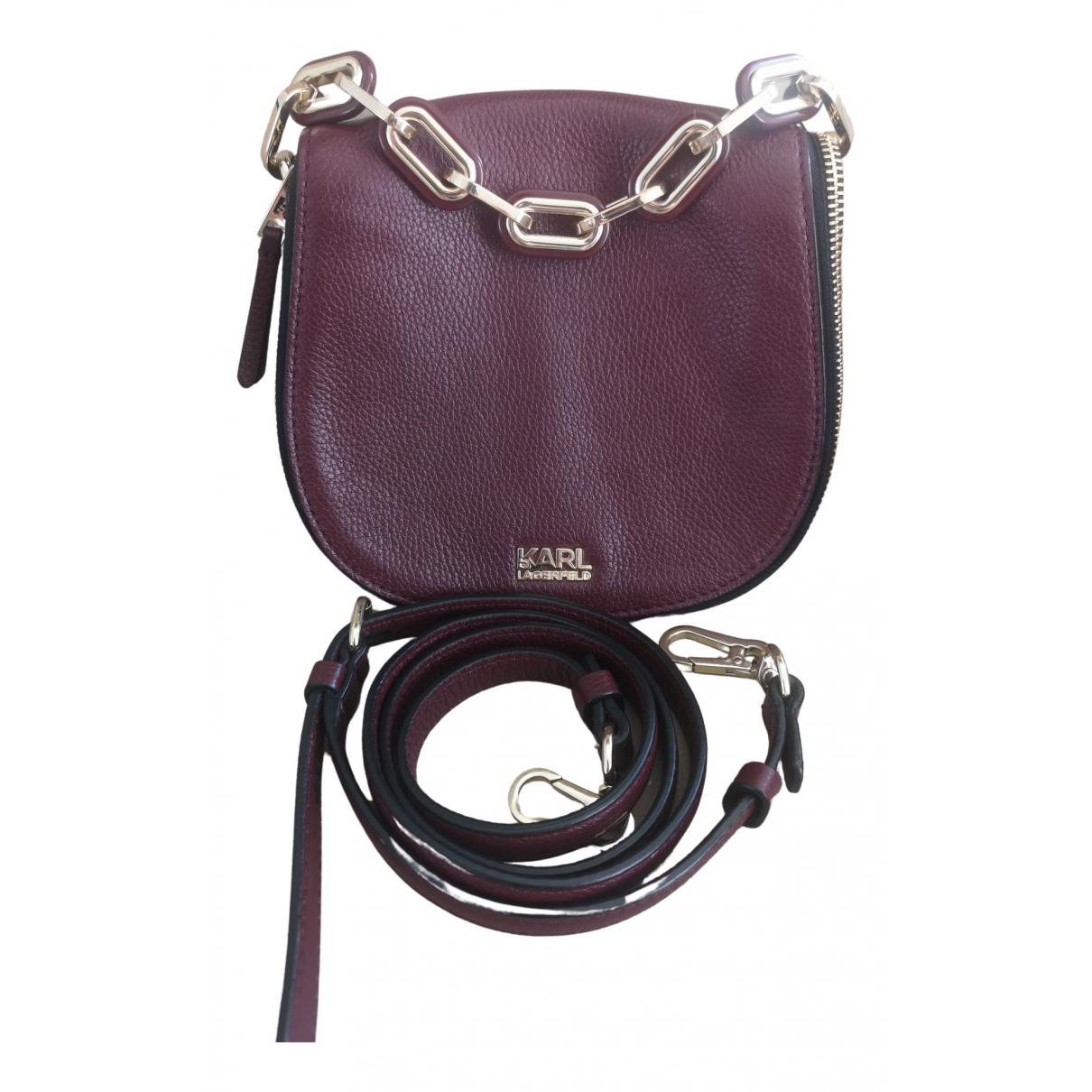 Karl Lagerfeld \N Handtasche in  Lila Leder