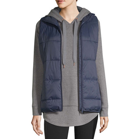 Xersion Puffer Womens Vest, X-small , Blue