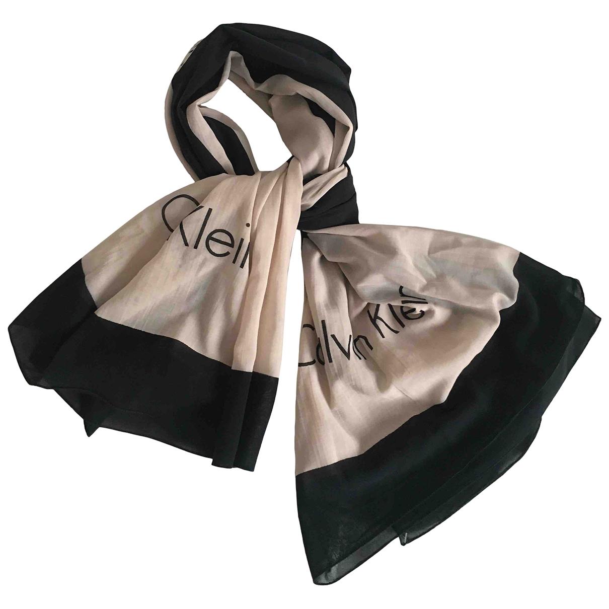 Calvin Klein - Foulard   pour femme en coton - noir