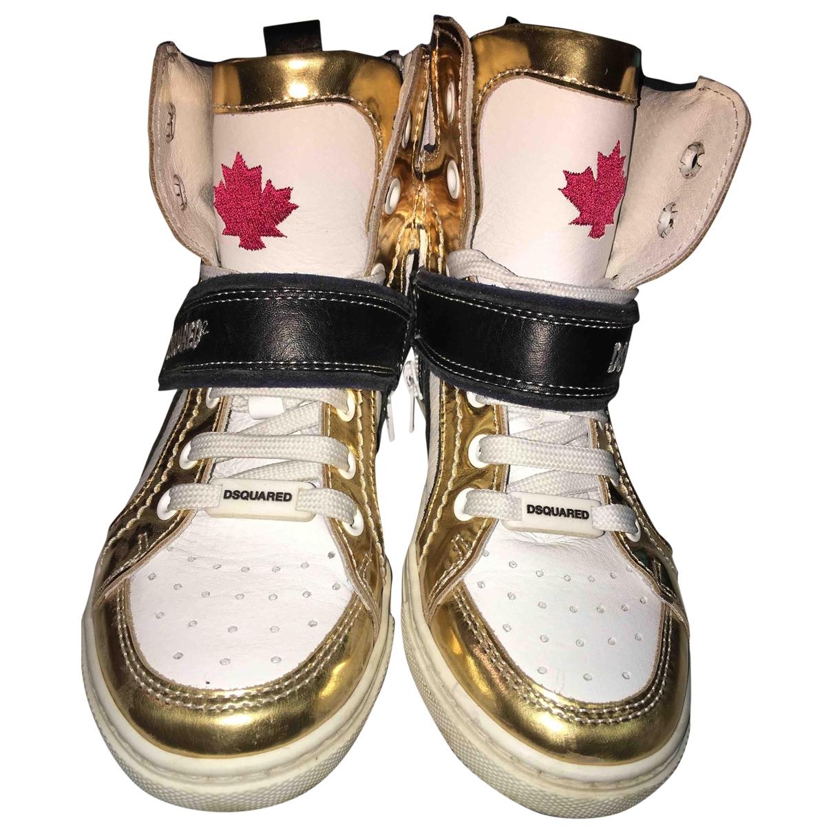 Dsquared2 \N Sneakers in  Gold Leder