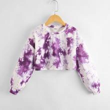 Crop Pullover mit Batik