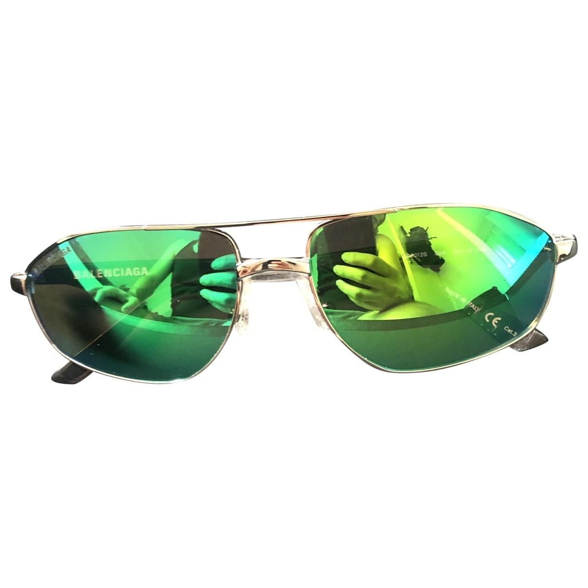 Balenciaga - Lunettes   pour homme en metal - vert