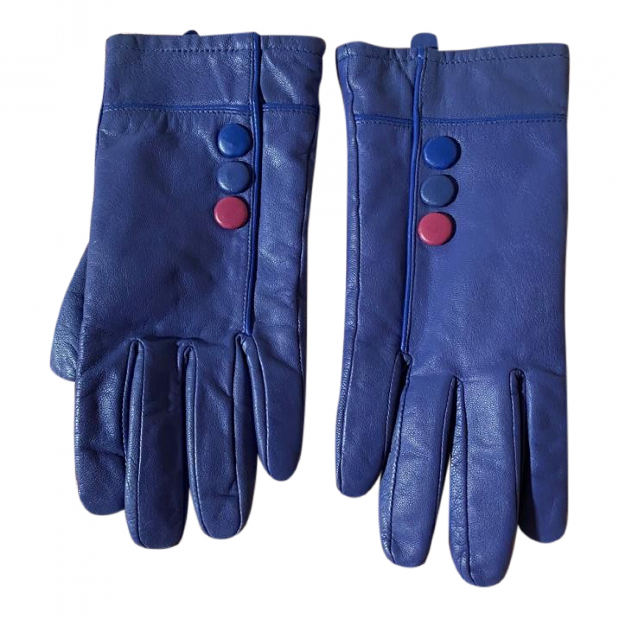 Non Signé / Unsigned \N Purple Leather Gloves for Women S International