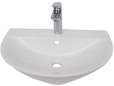 4-1251WH Morning 550 Wall Hung Basin  1-Facuet Hole