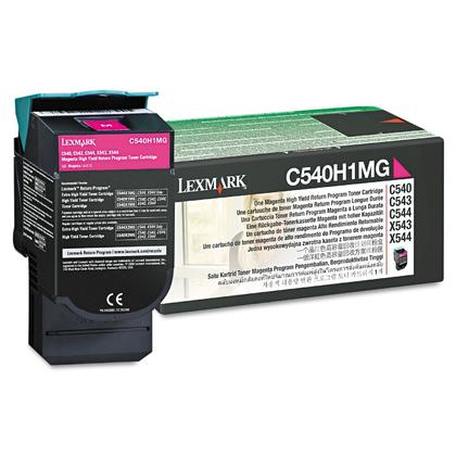Lexmark C540H1MG Original Magenta Return Program Toner Cartridge High Yield